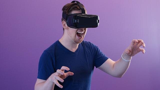 mladík a virtuální realita
